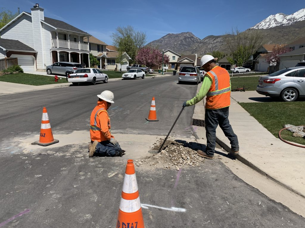Our crew working in Orem on April 30th, 2020.